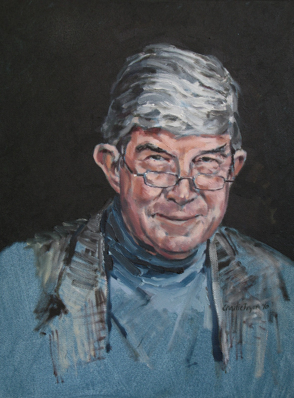 Portrait of a man in oil on canvas