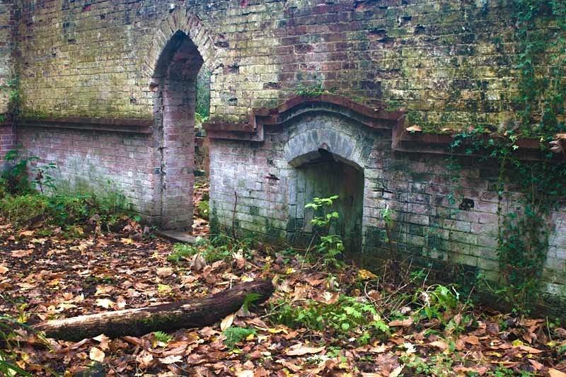 Fireplace - Bedham Mission Church - Urban exploration