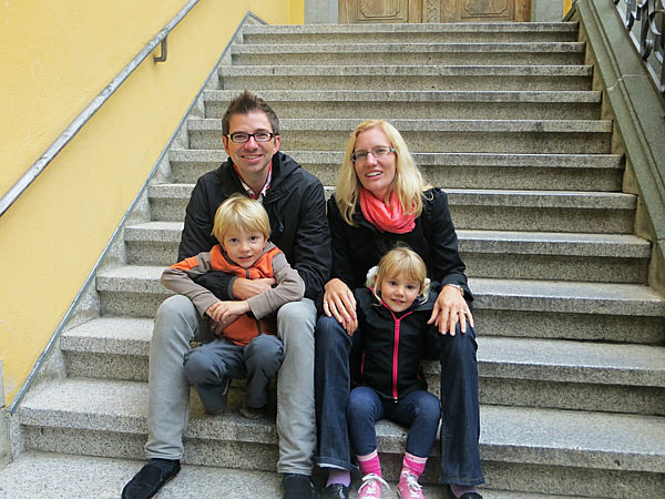 On the steps of the Mayor's House - Our Travels