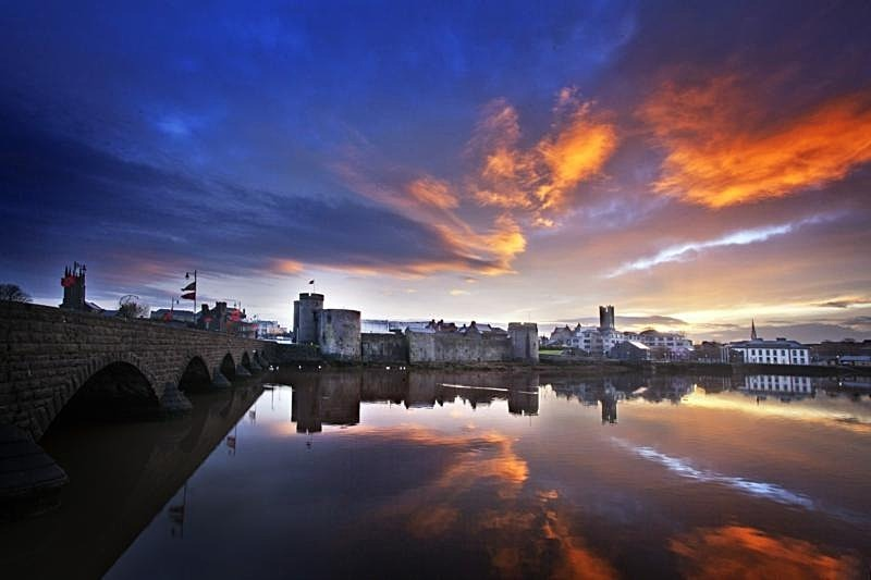 King John castle at sunrise - Limerick