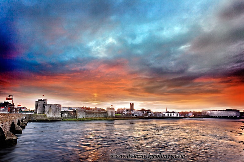 w-King-Johns-Castle-fire-sky-IMG_4544 - Limerick