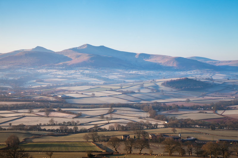 Pen y Fan and the Brecon Beacons National Park.