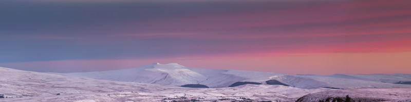 Winter view of Pen Y Fan, Wales