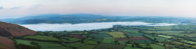 Panoramic Of Breconshire. - New Work