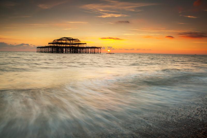 Brighton In Winter - Seascapes
