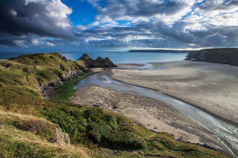 Landscape photography of the Gower coastline.