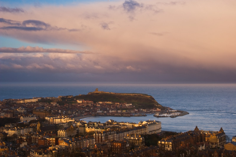 Landscape photography of the Yorkshire coastline.