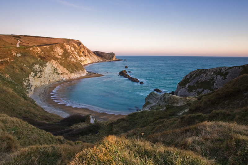 Landscape photography of the Dorset coastline.