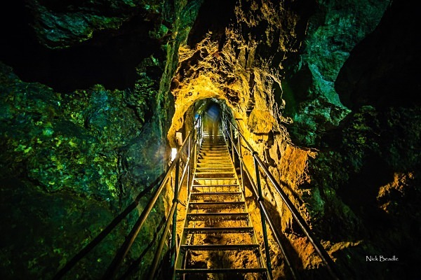 Leaving the Mine at Matlock Bath Spa - Peak District