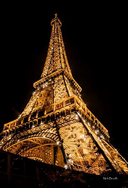Eiffel Tower Lit Up - Paris
