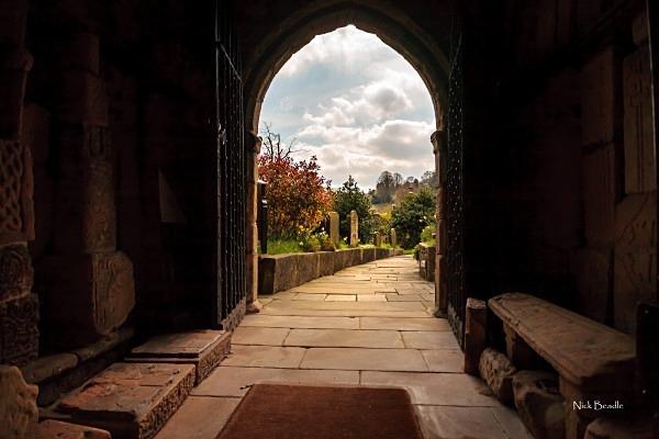 View Through a Church Door - Peak District