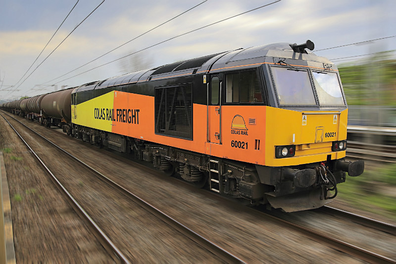 Class 60 021 in Colas Livery - Railway Artwork Prints
