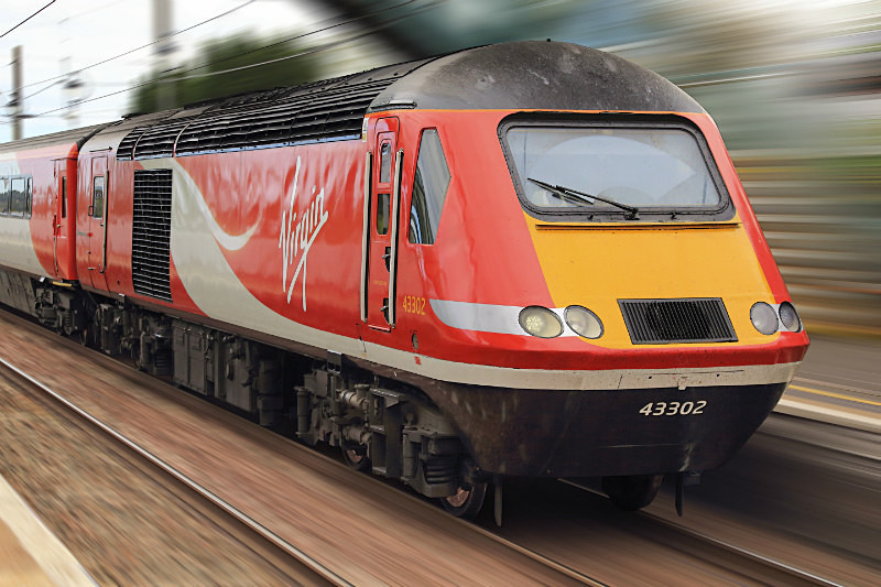 HST #43 302 in Virgin Livery - Railway Artwork Prints