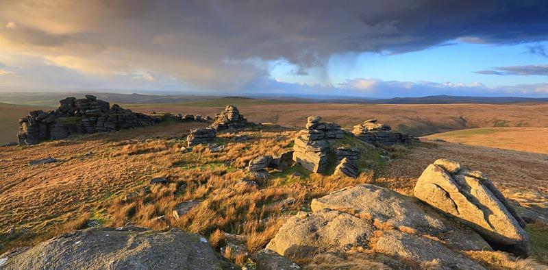 Great Mis Tor Panorama - Dartmoor Landscapes Prints