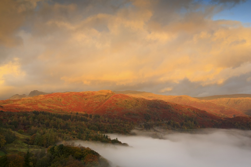 Grasmere, Silver How & Langdale Pikes