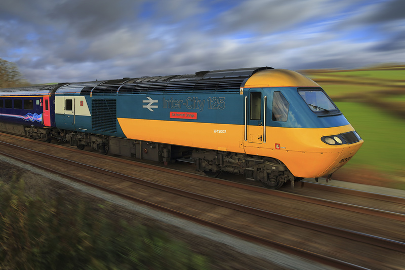 HST #43 002 in BR Blue Livery - Latest Railway Prints