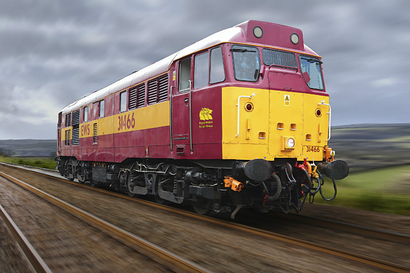 Class 31 466 in EWS livery - Railway Artwork Prints