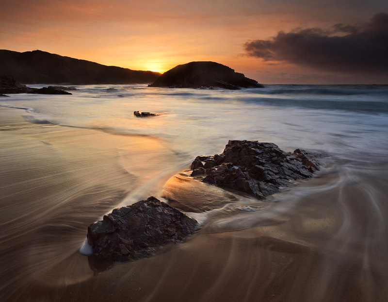 Sunset at The Murder Hole - Co Donegal