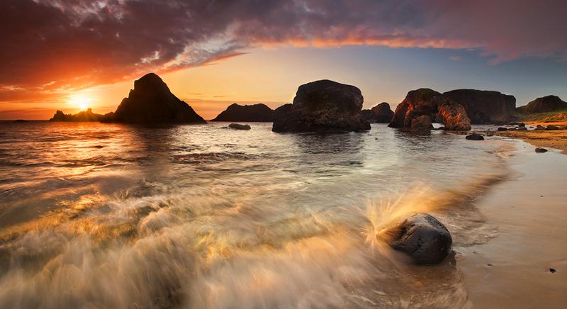 Seastacks At Sunset - Co Antrim