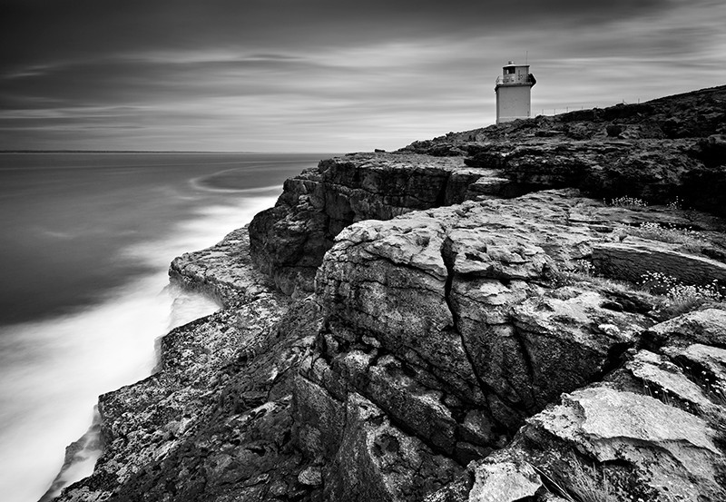 Blackhead Lighthouse - Black & White