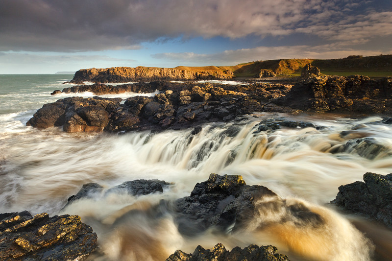 Dunseverick Sea Waterfall - Co Antrim