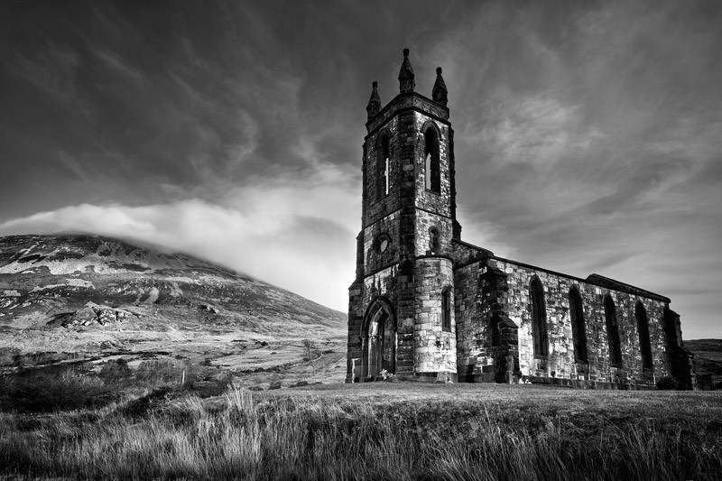 Dunlewy Church - Black & White