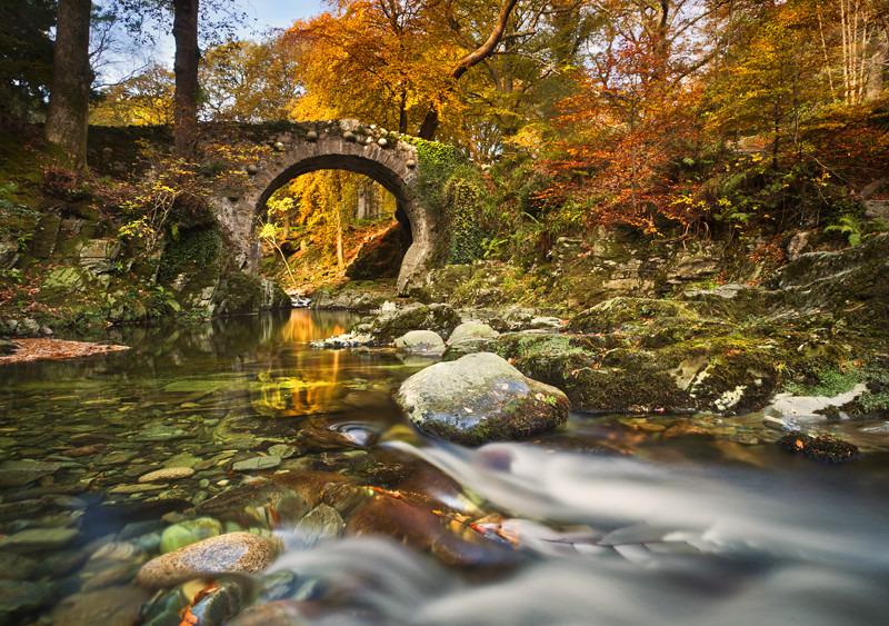 Foleys Bridge at Autumn - Co Down