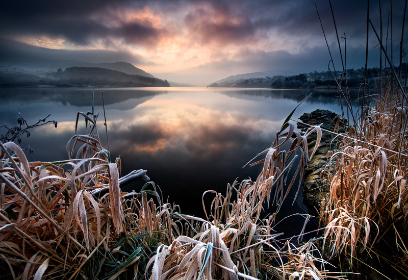 Sunrise at Camlough Lake in Co Armagh in N Ireland