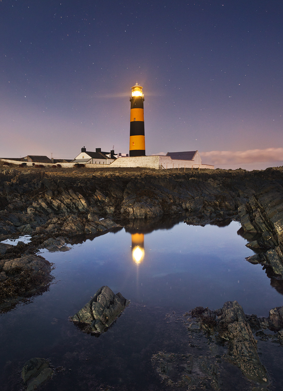 St Johns Point Lighthouse by Night - Co Down