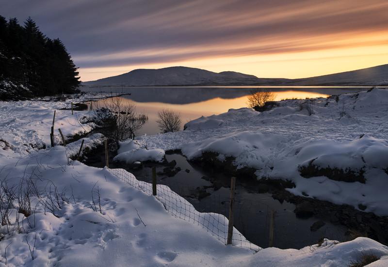 Winter Sunset at Spelga Dam - Co Down