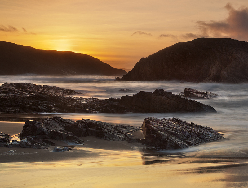 Boyeeghter Bay at Sunset - Co Donegal