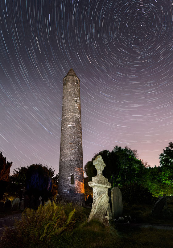 Glendalough Round Tower Star Trails - Co Wicklow
