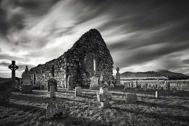 Kilwirra Church Ruins - Black & White