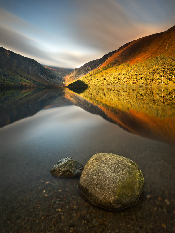 The Upper Lake at Autumn - Co Wicklow