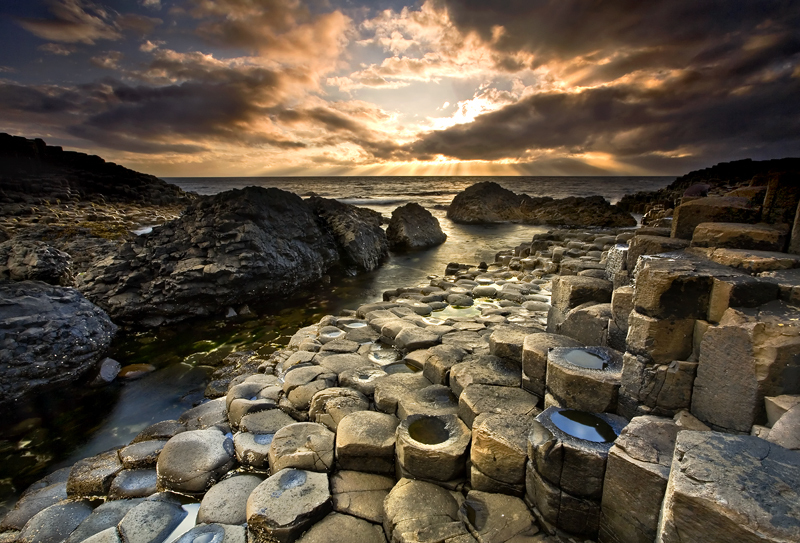 The Giants Causeway - Co Antrim