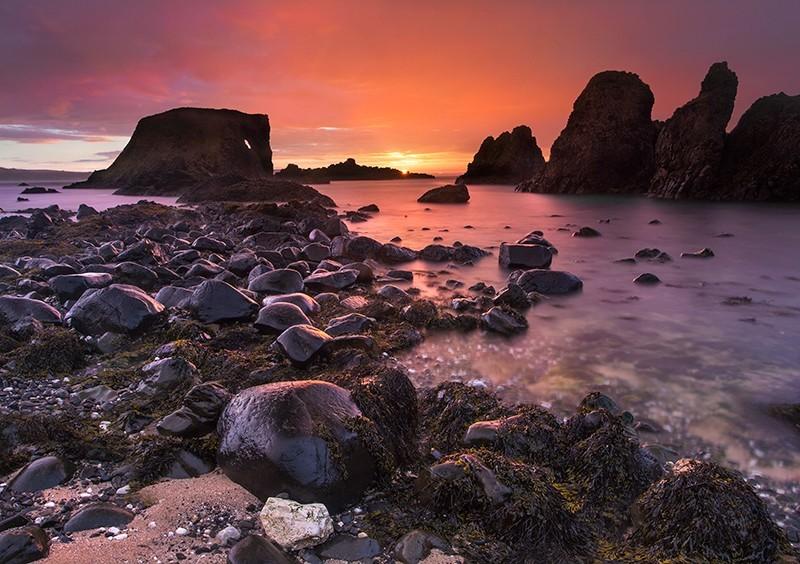 Elephant Rock at Sunset - Co Antrim