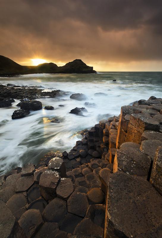 Stormy Causeway Sunset - Co Antrim