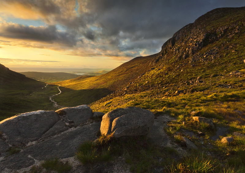 Evening Light at The Hares Gap - Co Down
