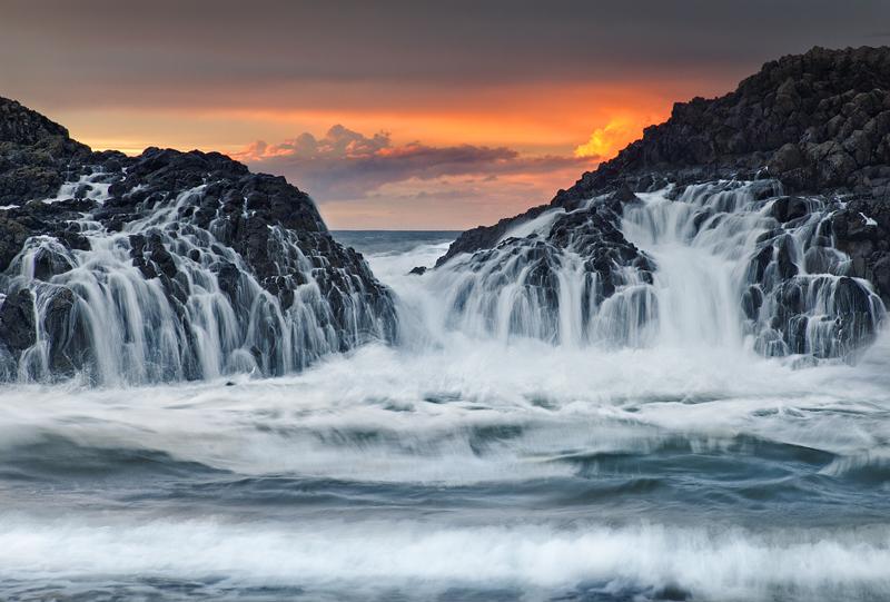 Crashing waves at Sunset - Co Antrim