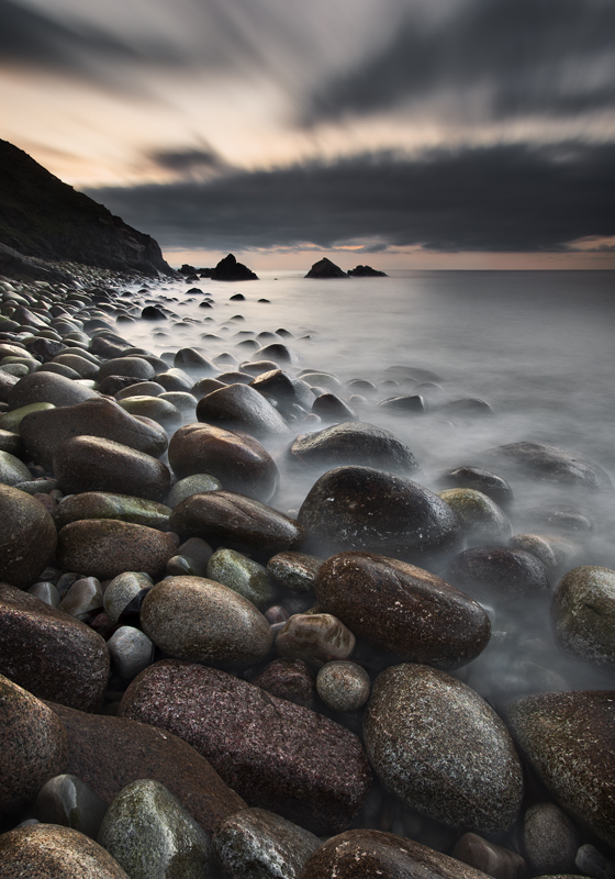 Pebble Beach at Twilight - Co Donegal