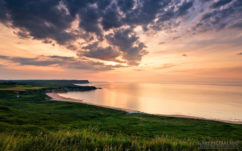 Sunset over White Park Bay - Co Antrim