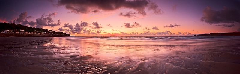 Last Light at Whitesand Bay - Panoramic images