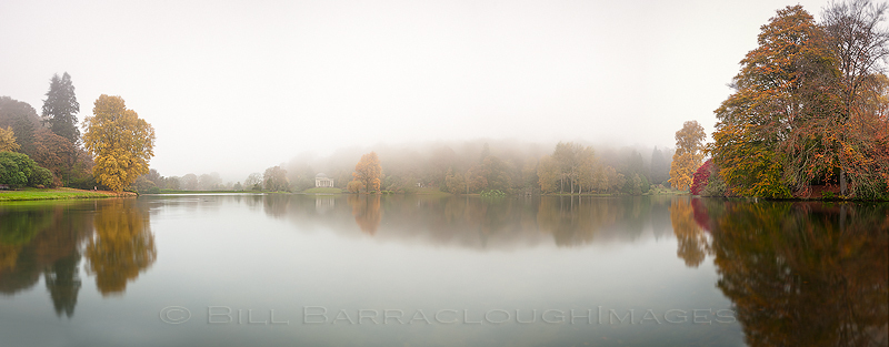 Stourhead in the Mist 3 - Landscapes in colour