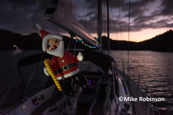 Christmas 2015_3_Santa on boom - North Island, New Zealand