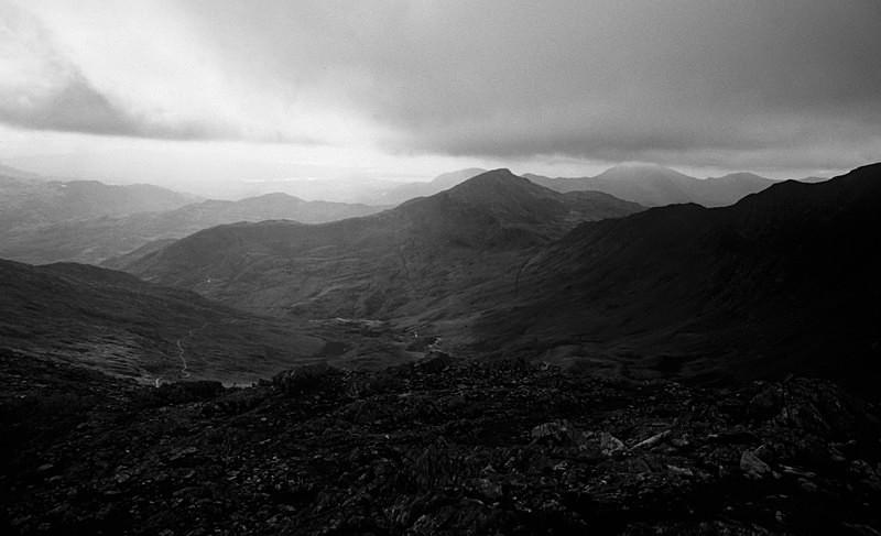 Moel Hebog from Snowdon (SB01) - Wales