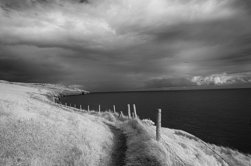 Passing Storm, Infrared - Corfe and the Surrounding Area
