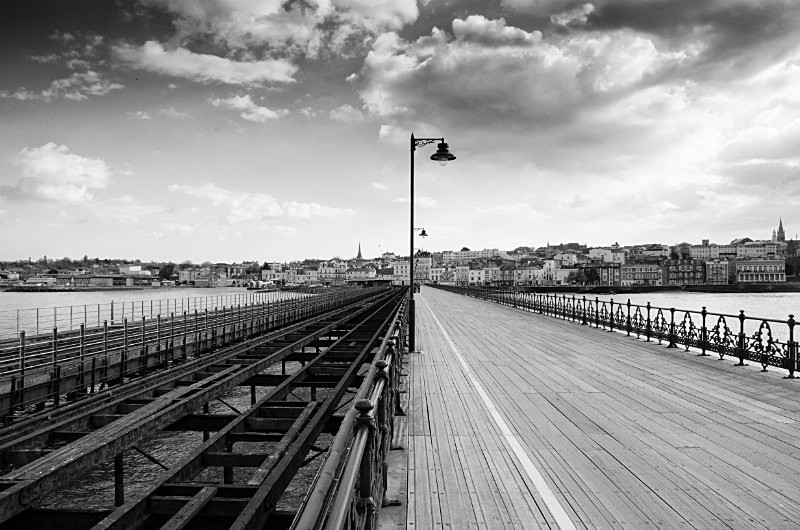 Ryde Pier, Isle of Wight (black & white) - Isle of Wight