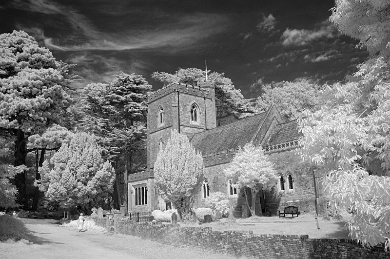 Church On Brownsea - Infrared - Infrared Photography