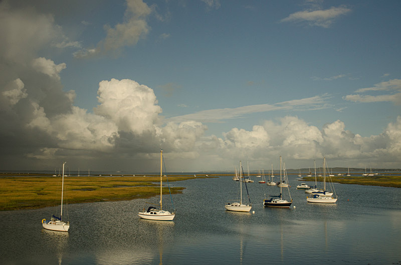 Moorings at Milford - Keyhaven on a Stormy Day