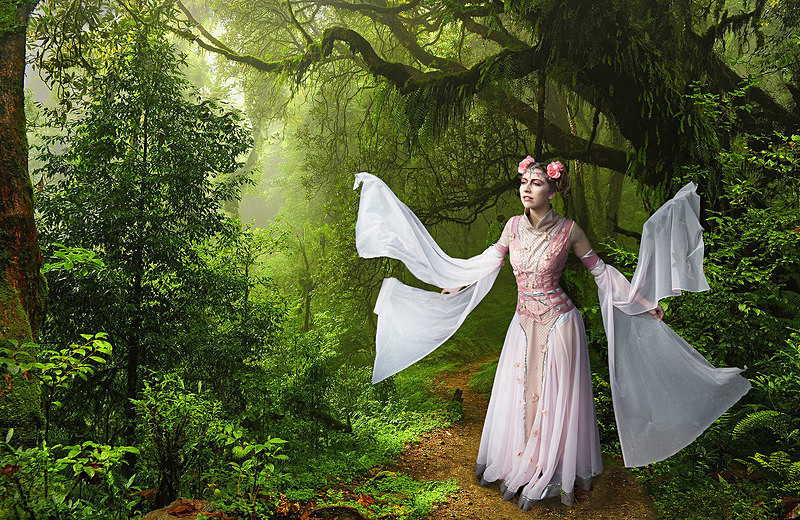 Maiden of the Forest - PHOTOSHOP CREATIONS
